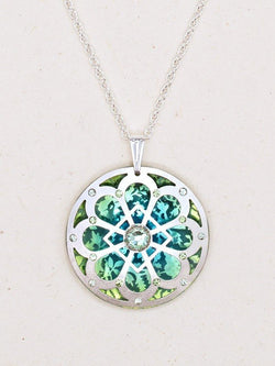 SILVER/GREEN MORNING LIGHT NECKLACE