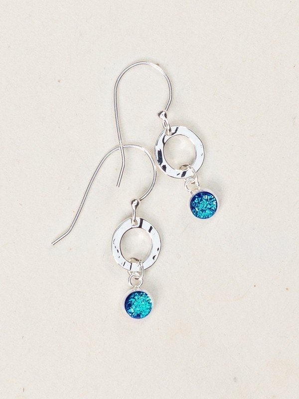 Lagoon/Silver Bonita Drop Earrings