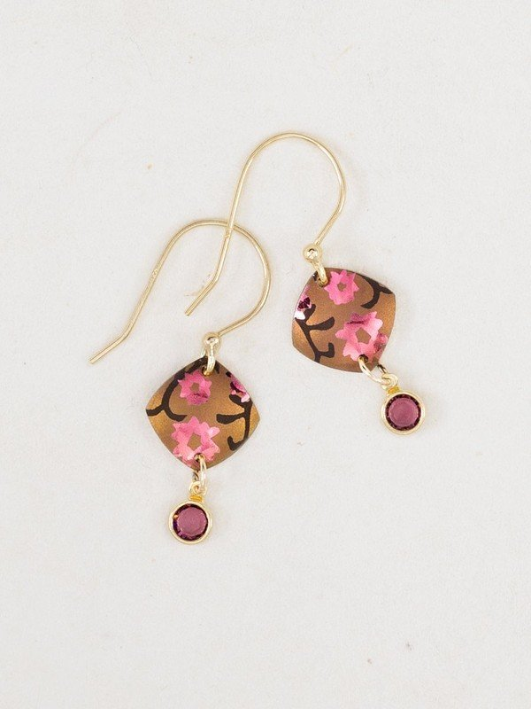 PEACHY PINK AURORA EARRINGS HOLLY YASHI