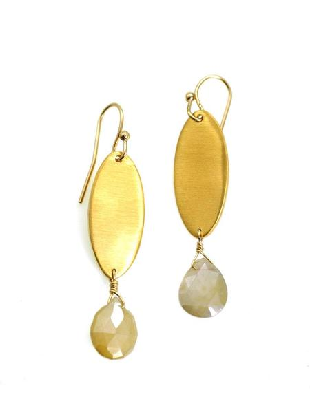 FLAT OVAL WITH SILVERITE VERMEIL EARRINGS