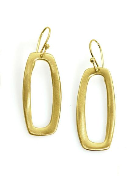 SMALL RECTANGLE VERMEIL EARRINGS