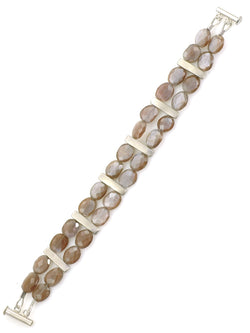 BARS WITH CHOCOLATE MOONSTONE NECKLACE
