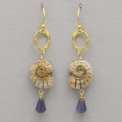 Sand Shelley Drop Earrings