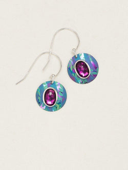 Turquoise/Purple Mistral Earrings