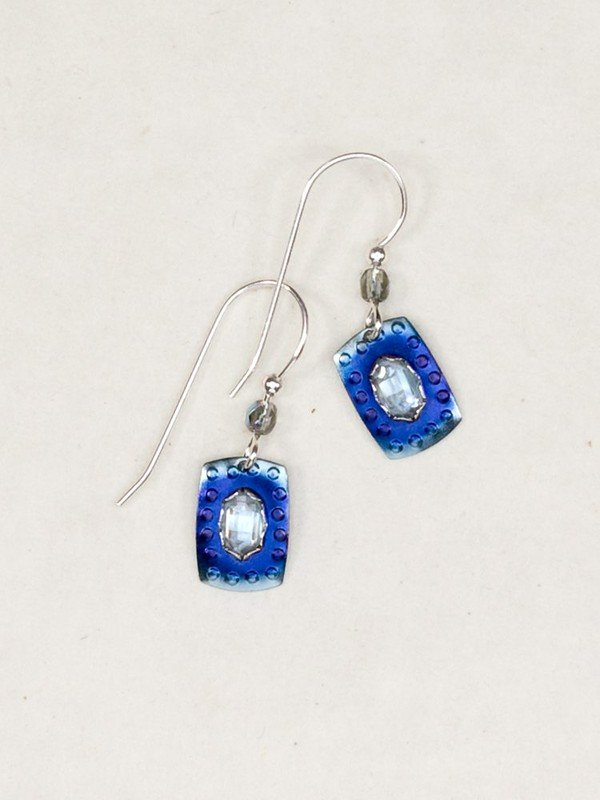DENIM BLUE SHORELINE EARRING