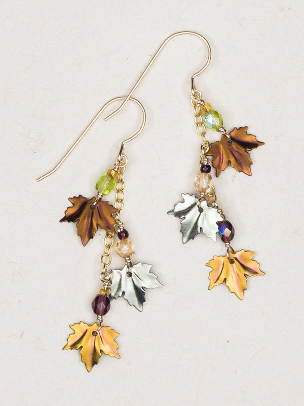 BROWN SAGE PEACH MAPLE CHIME EARRINGS HOLLY YASHI