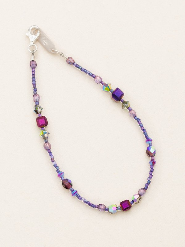 Plum Sonoma Glass Bead Bracelet