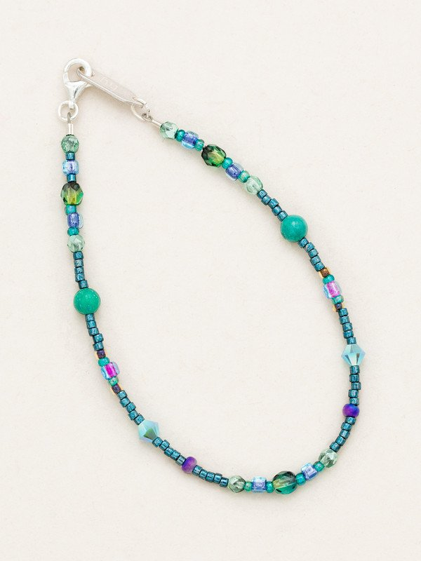Peacock Sonoma Glass Bead Bracelet