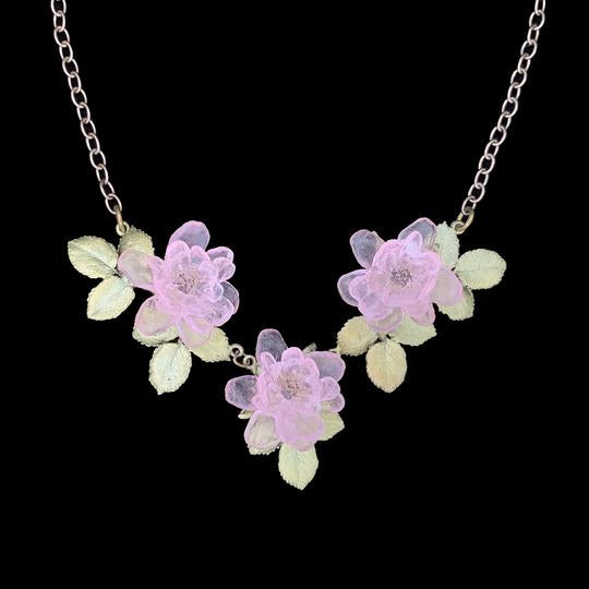 BLUSHING ROSE MINI STATEMENT NECKLACE