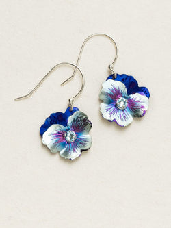BONNIE BLUE GARDEN PANSY EARRINGS