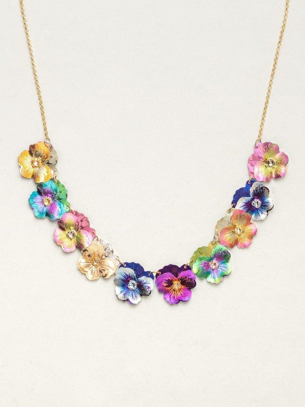 GARDEN PANSY COLLAR NECKLACE HOLLY YASHI