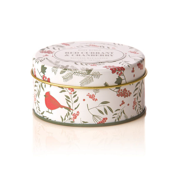 TRAVEL TIN CANDLE - RED CURRANT & CRANBERRY