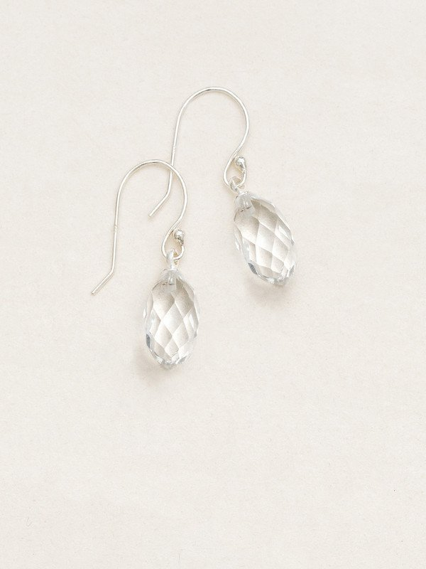 Clear North Star Earrings