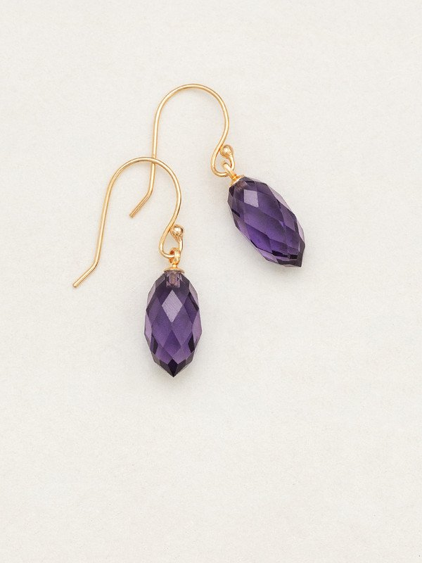 Plum North Star Earrings