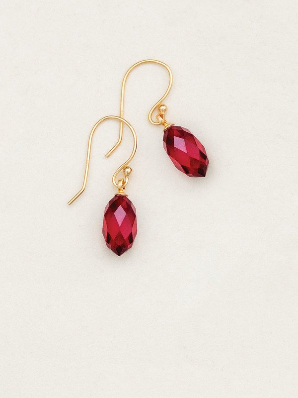 Merlot Petite North Star Earrings