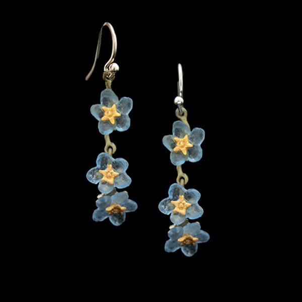 FORGET ME NOT TRIPLET EARRINGS