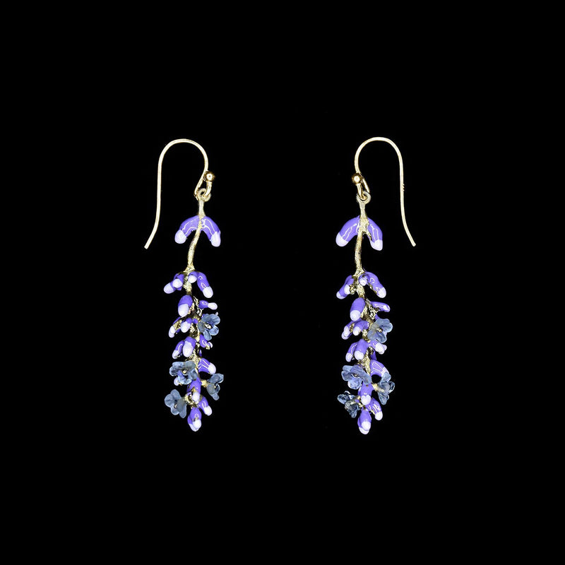 LONG LAVENDER DANGLE EARRINGS