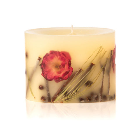 "BOTANICAL CANDLE 3"" PETITE OVAL - WINTER ROSE & PINE"