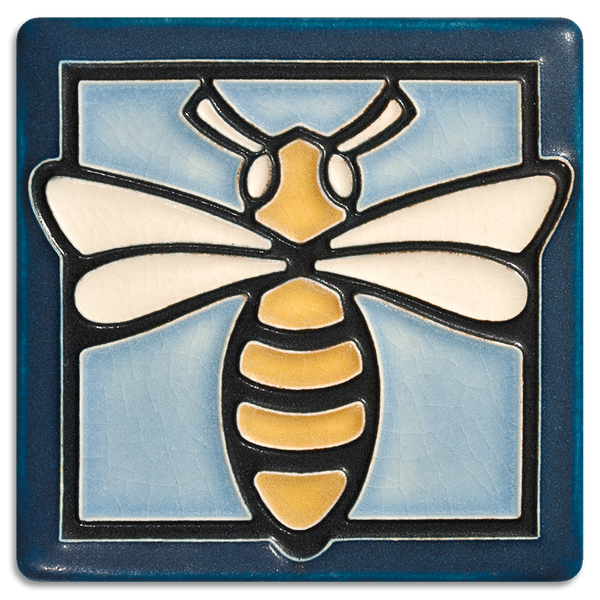 MOTAWI BEE LIGHT BLUE TILE 4X4 4431