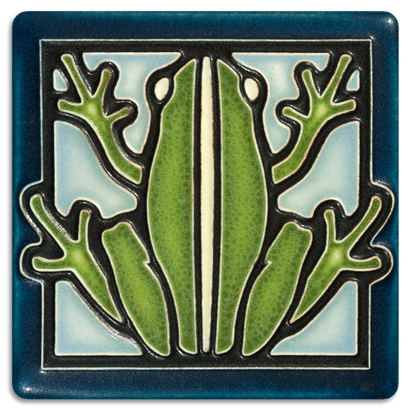 MOTAWI FROG TILE LIGHT BLUE 4X4 4434