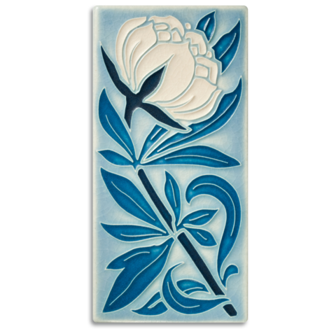 MOTAWI PEONY TILE PALE BLUE 4X8 4896