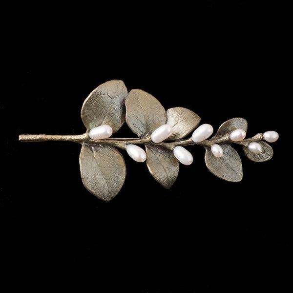 IRISH THORN LEAVES BROOCH