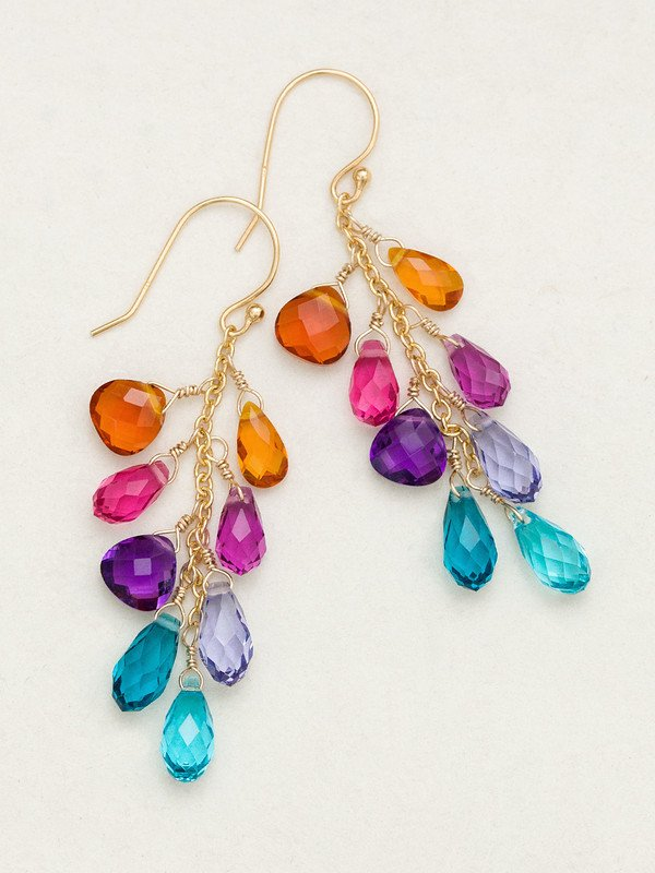 RAINBOW LORELEI CLUSTER EARRING