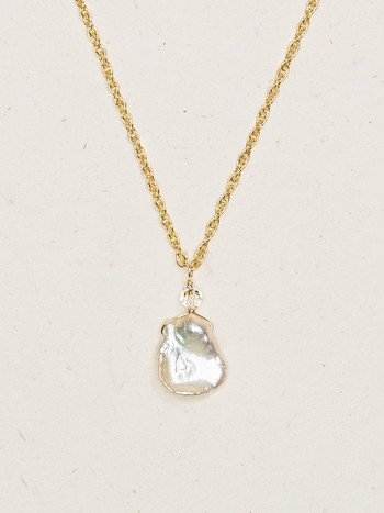 Blush/Gold Margo Pendant Necklace
