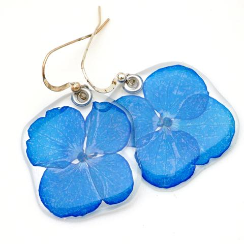 SKY BLUE HYDRANGEA EARRINGS