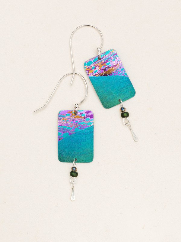 TEAL TIDELINE EARRINGS HOLLY YASHI
