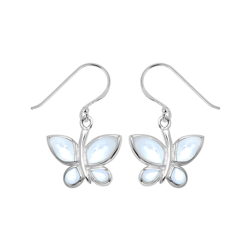 BUTTERFLY MOTHER OF PEARL EARRINGS