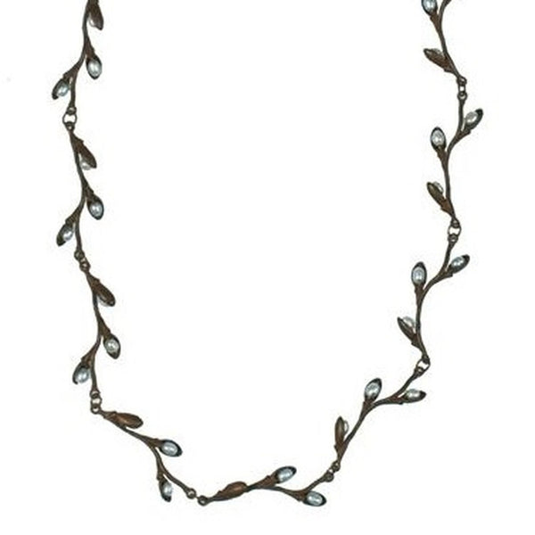 "PUSSY WILLOW DELICATE 16"" ADJUSTABLE NECKLACE"