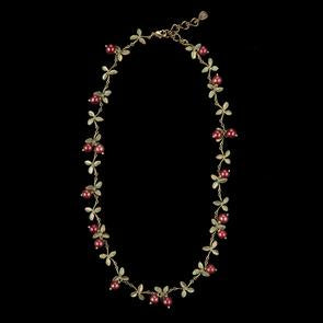 CRANBERRY NECKLACE DELICATE
