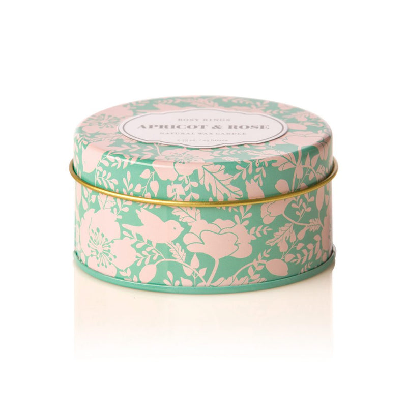 TRAVEL TIN CANDLE - APRICOT ROSE