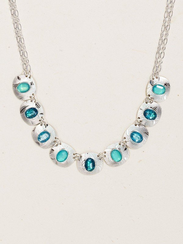 STERLING SILVER AQUAMARINE SYNERGY NECKLACE