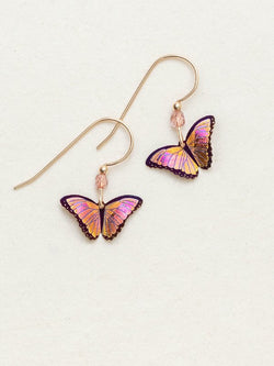 LIVING CORAL PETITE BELLA BUTTERFLY EARRINGS HOLLY YASHI