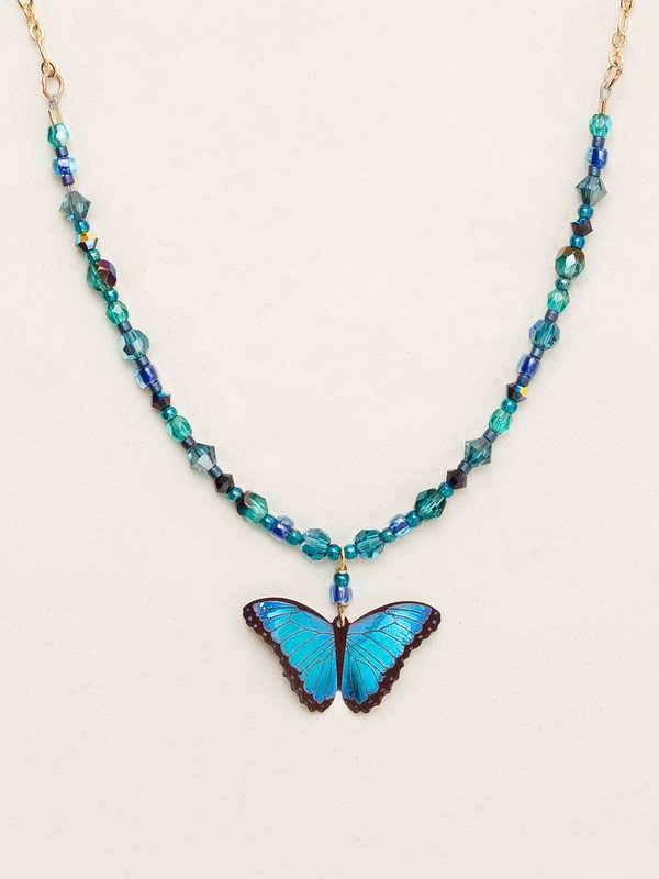BLUE RADIANCE BELLA BUTTERFLY NECKLACE