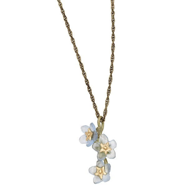 FORGET ME NOT TRIPLE FLOWER PENDANT
