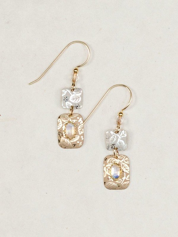 SILVER GOLD TESSA EARRINGS