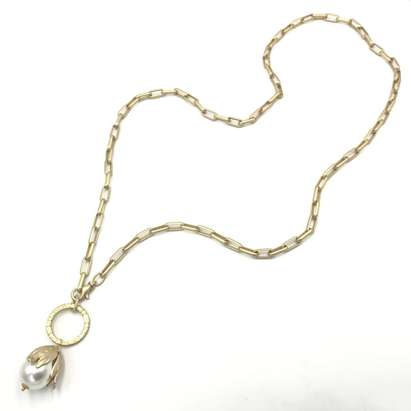 pearl gold convertible necklace