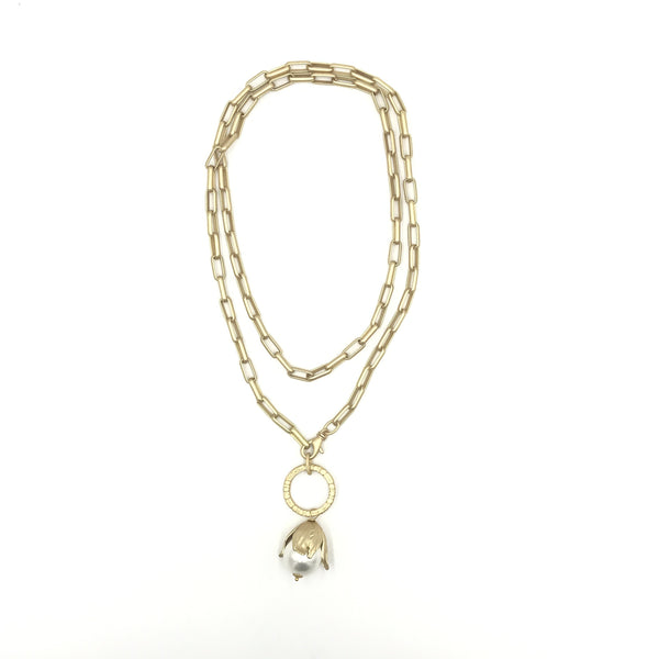 Abundant Life Pearl Drop Necklace