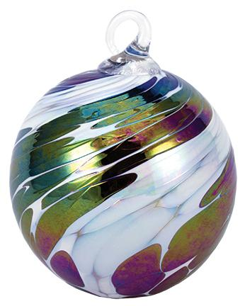 CLASSIC ROUND ORNAMENT - BLACK ICE