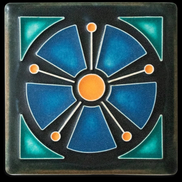 MOTAWI ATOMIC ANEMONE BLUE TILE 4X4 4460