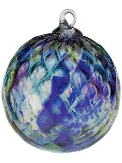 CLASSIC ROUND ORNAMENT - BLUE MOSAIC DIAMOND FACET