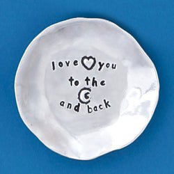 LOVE YOU TO THE MOON AND BACK CHARM BOWL