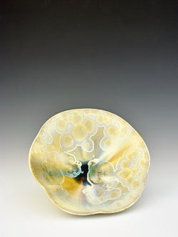 STELLAR PANSY BOWL (CREAM/GREEN/BLUE)