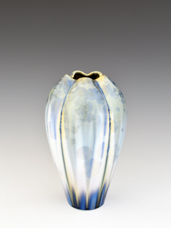 STELLAR SMALL IRIS VASE (CREAM/BLUE/GREEN)