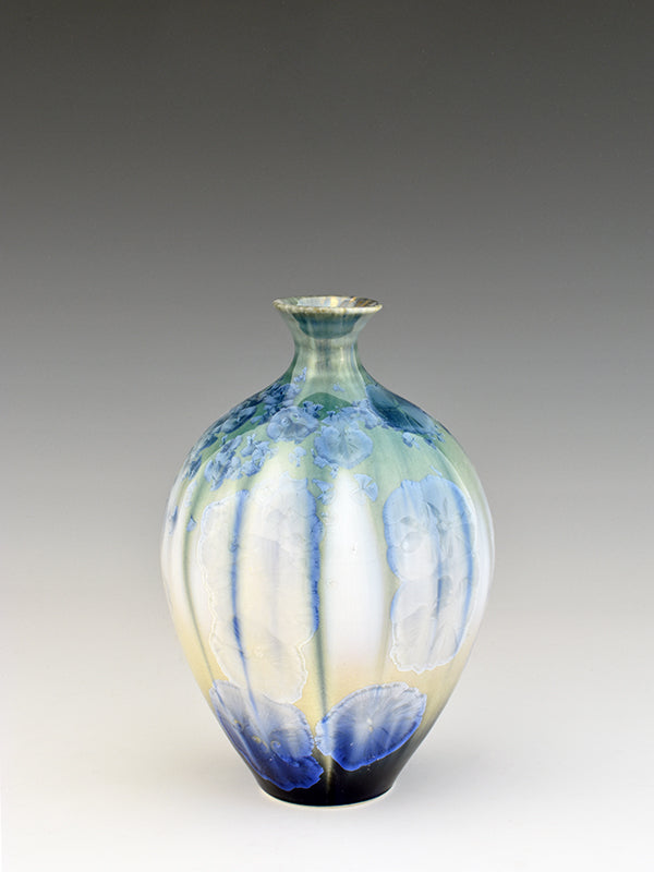STELLAR SAKI VASE (CREAM/GREEN/BLUE)