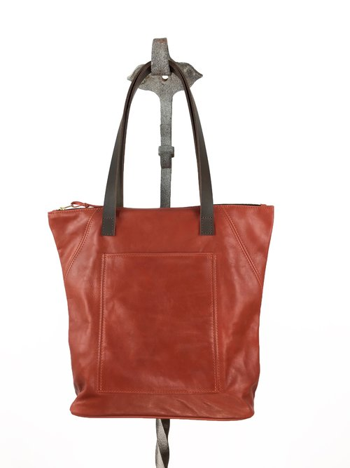 UNLINED TOTE LEATHER