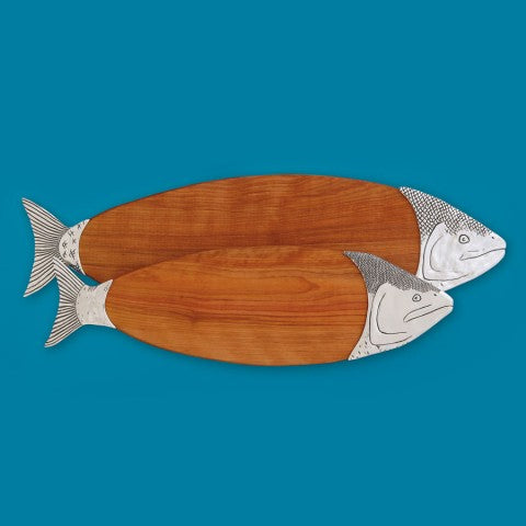"21"" SALMON CUTTING BOARD"